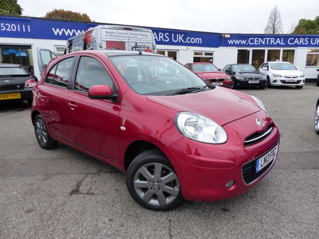 nissan micra 1 1 elle 5 door in metallic red for sale. Black Bedroom Furniture Sets. Home Design Ideas