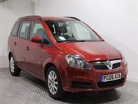 Used Vauxhall Zafira CLUB 16V