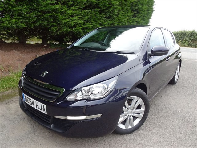 used Peugeot 308 HDI Active (90bhp) in herefordshire-for-sale
