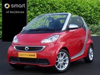 Used Smart Car Fortwo Cabrio Passion 2dr Softouch Auto 84 [2010]