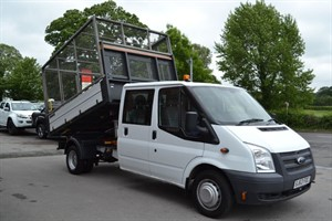 used Ford Transit 350 DRW 125ps TWIN WHEEL CREW CAB CAGE TIPPER in macclesfield-cheshire