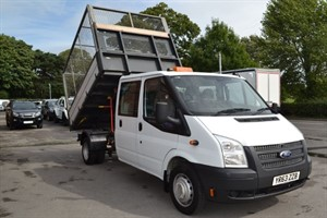 used Ford Transit 125 DOUBLE CAB 350 DRW CAGED TIPPER in macclesfield-cheshire