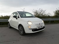 Used Fiat 500 Cult Top Spec Model, Leather Seats, Glass Roof, Front Fog Lights