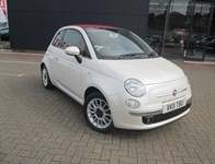 Used Fiat 500C Lounge  Rare Open Top Model, Alloy Wheels, Pearl White, 1 Owner From New