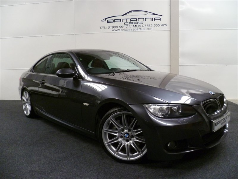 used BMW 330d M SPORT HUGE SPEC WITH NAV & RED LEATHER in sheffield-for-sale