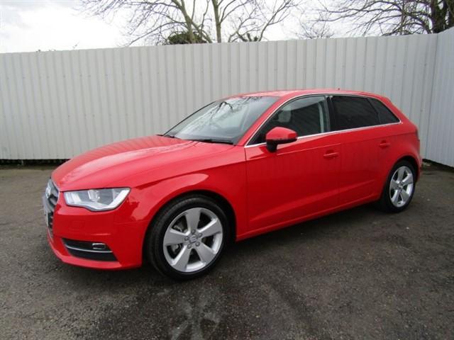 used Audi A3 1.6TDI Sport Nav 5dr Diesel Red