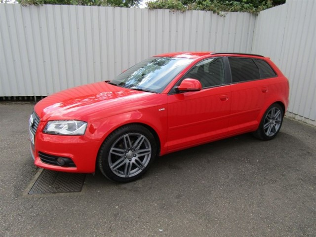 used Audi A3 2.0 TDI Sportback S Line Special Edition 5dr Diesel 140bhp Red
