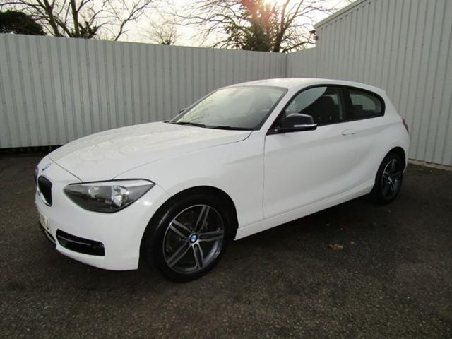 used BMW 116d 2.0D Sport 3dr Diesel FSH White