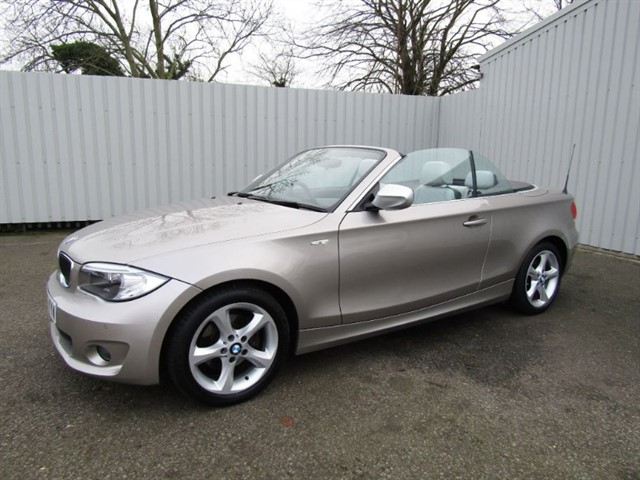 used BMW 120d 2.0D (177bhp) Exclusive Edition Convertible Diesel Cashmere Silver FSH