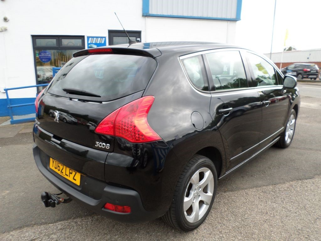 used black peugeot 3008 for sale dumfries and galloway. Black Bedroom Furniture Sets. Home Design Ideas