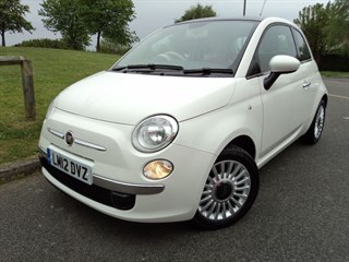 Fiat 500 Lounge  Red Leather  Ivory Ambience