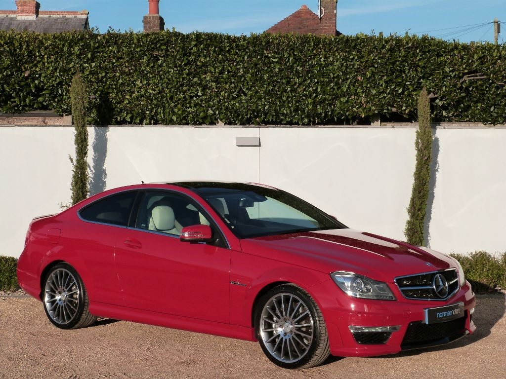 Used fire red mercedes c63 amg for sale dorset for Mercedes benz c63 amg for sale