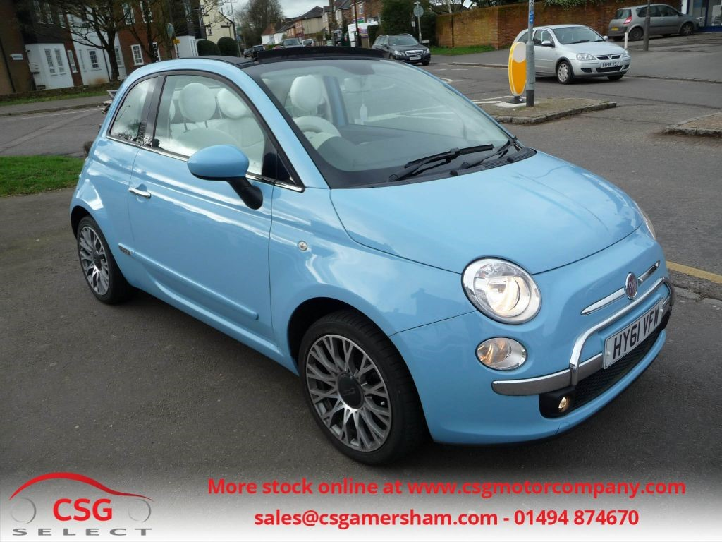 used cappellini blue fiat 500c for sale buckinghamshire. Black Bedroom Furniture Sets. Home Design Ideas