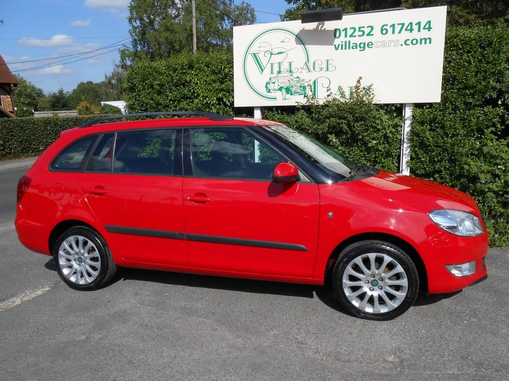 used skoda fabia elegance tdi cr diesel for sale in fleet village cars. Black Bedroom Furniture Sets. Home Design Ideas