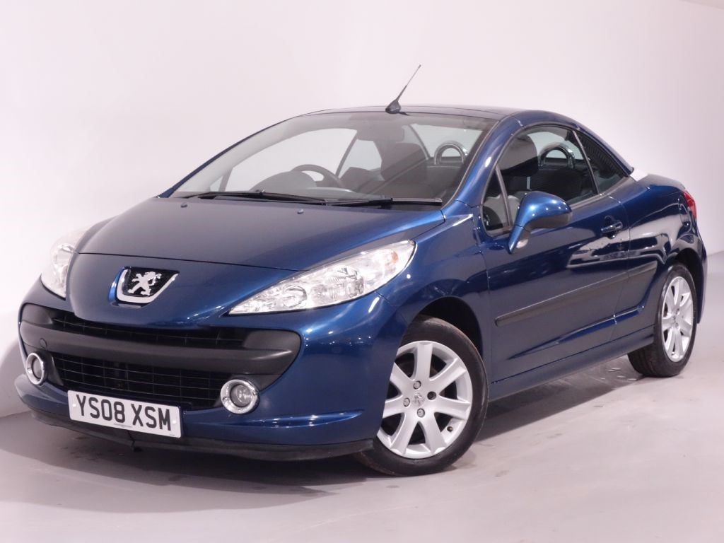 used blue peugeot 207 cc for sale hampshire. Black Bedroom Furniture Sets. Home Design Ideas
