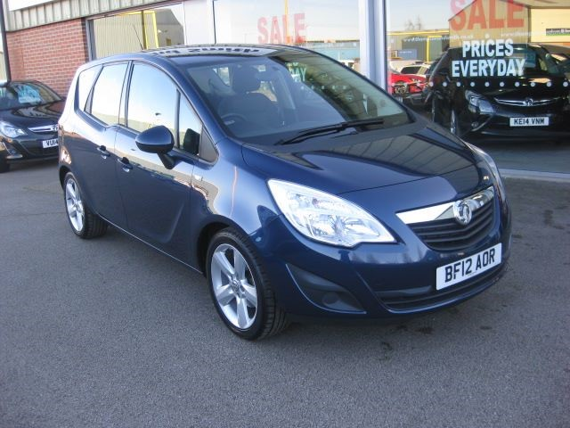 used Vauxhall Meriva Exclusiv 1.4i 16v 100PS 5dr A/C Low Mileage in louth