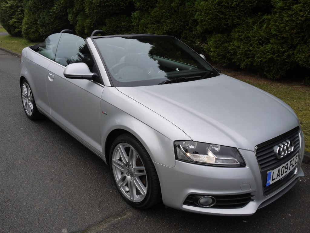 used ice silver metallic audi a3 cab for sale surrey. Black Bedroom Furniture Sets. Home Design Ideas