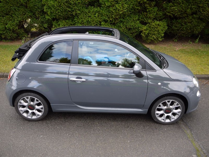 Used Tech House Grey Metallic Fiat 500 For Sale Surrey