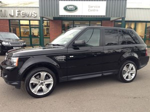 used Land Rover Range Rover Sport SDV6 HSE BLACK in gloucestershire