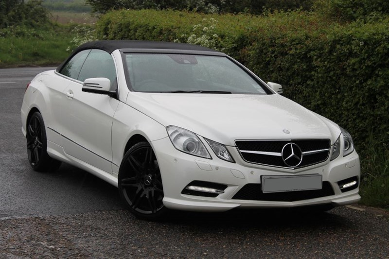 used Mercedes E350 cdi amg sport convertible
