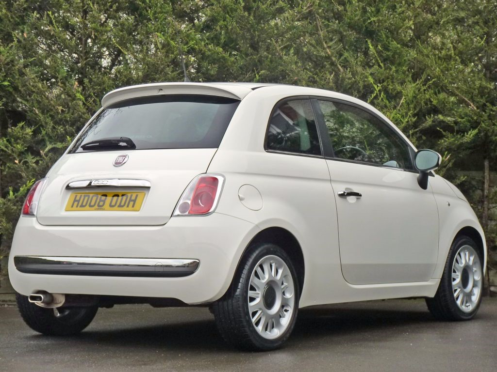 used pure white fiat 500for sale. Black Bedroom Furniture Sets. Home Design Ideas
