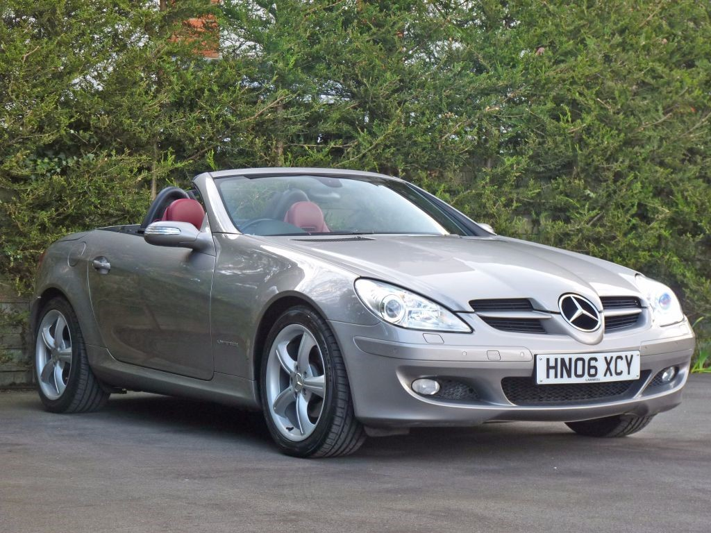 used cubanite silver metallic mercedes slkfor sale. Black Bedroom Furniture Sets. Home Design Ideas
