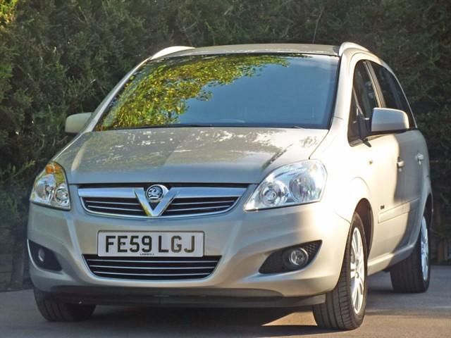 used Vauxhall Zafira DESIGN 7 SEATER in dorset