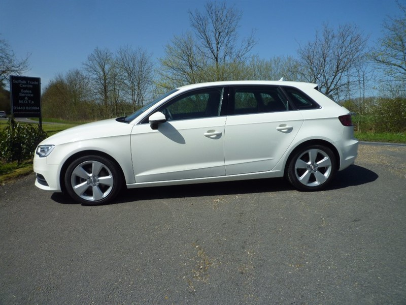 used Audi A3 TFSI Sport Sportback S Tronic 5dr in suffolk