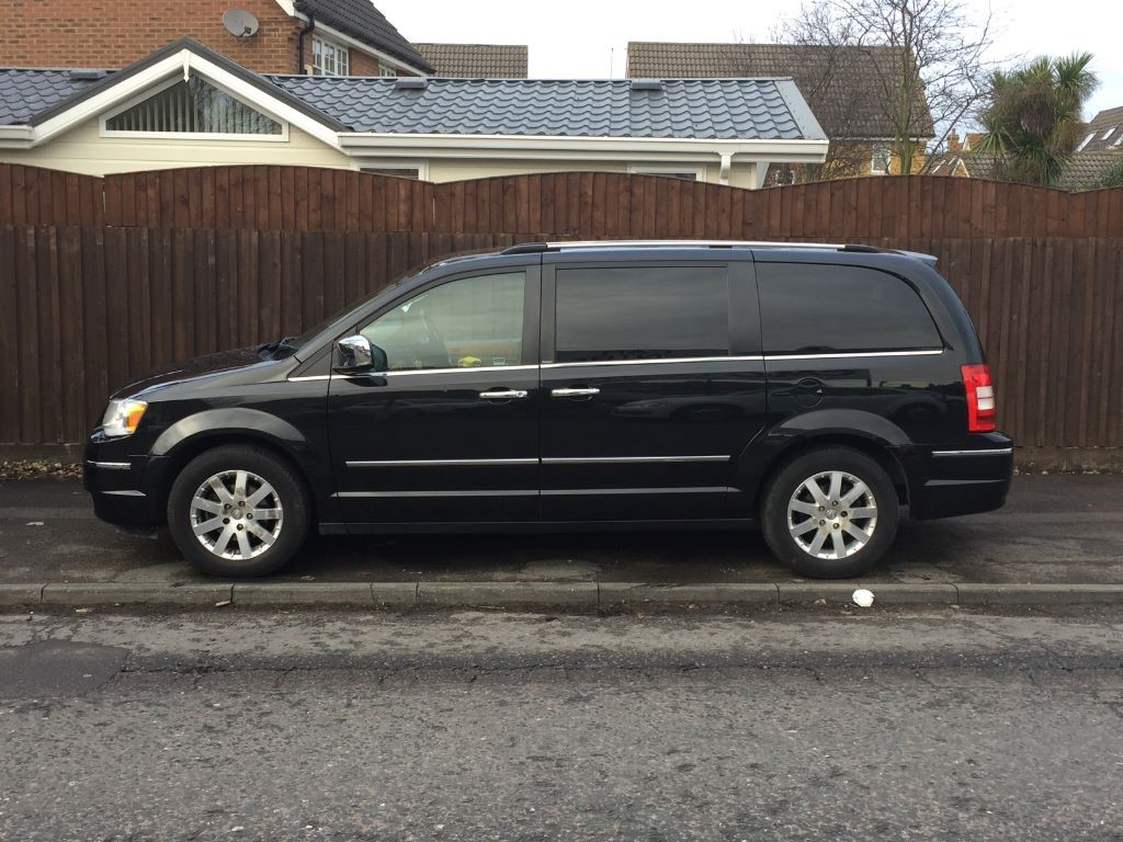 used black chrysler grand voyager for sale essex. Black Bedroom Furniture Sets. Home Design Ideas