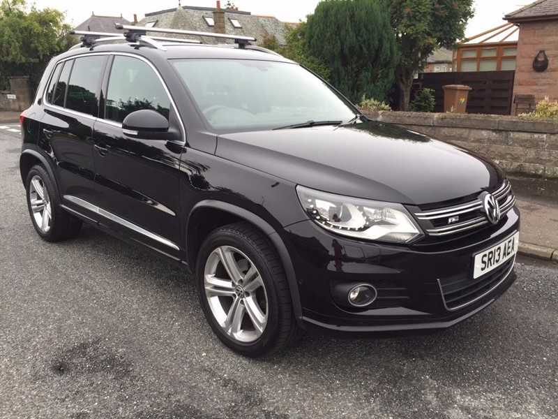used VW Tiguan TDI BlueMotion Tech R-Line 4Motion 5dr in dundee-scotland