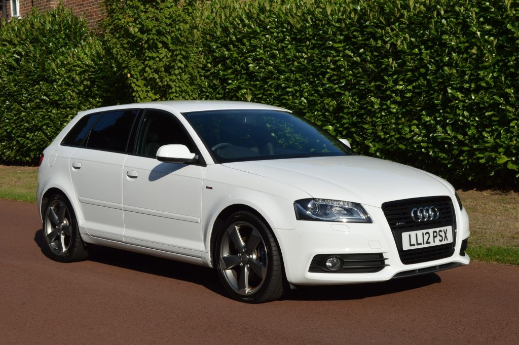 used Audi A3 SPORTBACK TDI QUATTRO S LINE Black EDITION in hersham-surrey