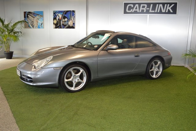 Silver 911 Porsche at Car links showroom