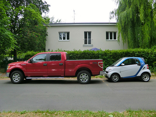 Size matters! Think carefully whether a big or small car will suit you best