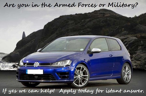 car finance armed forces