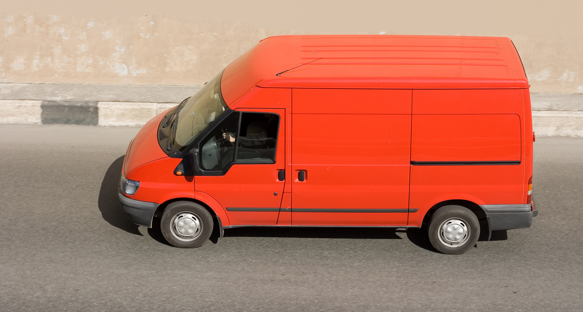 Orange Ford Transit