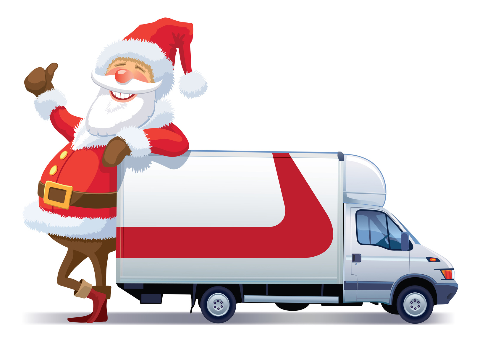 Santa and Used Van