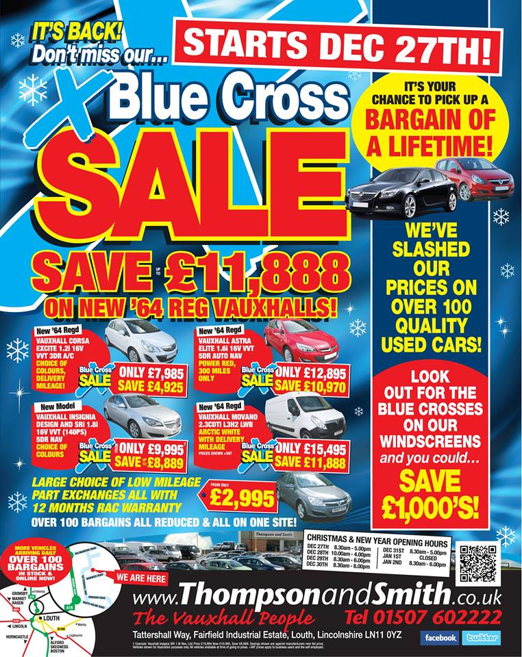 Blue Cross Sale Flyer