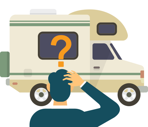 A man thinking 'how do I sell my motorhome?'