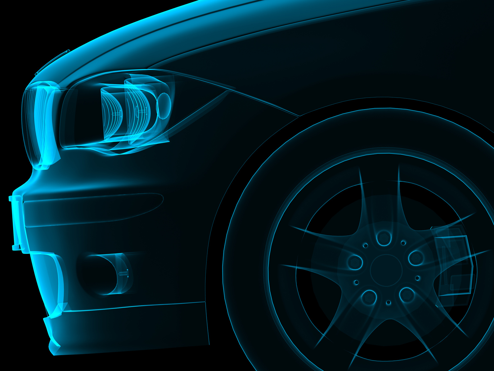 graphic of the front of a BMW 3 Series
