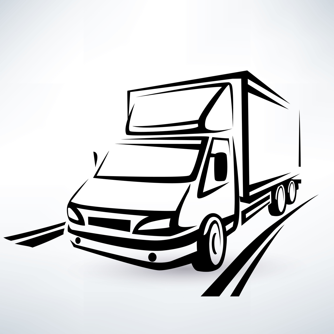 Illustration of a white van