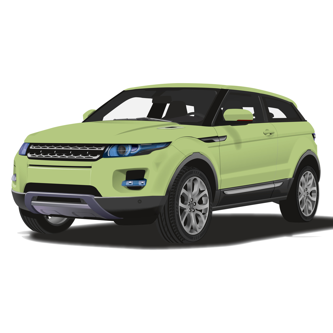 graphic of a Land Rover Evoque 4x4