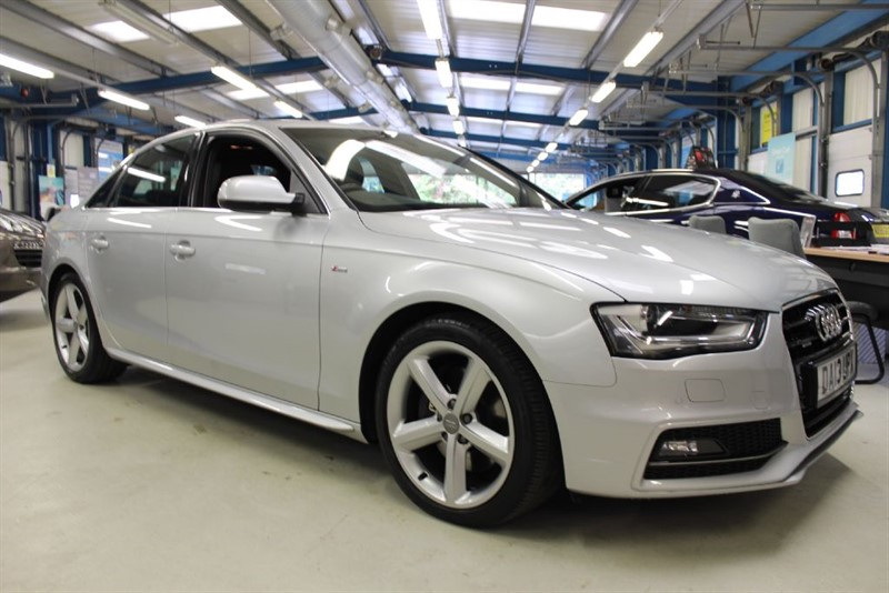 used Audi A4 TDI QUATTRO S LINE [SAT NAV / LEATHER / 270 BHP] in basingstoke-hampshire
