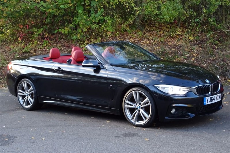 used BMW 420d M SPORT [SAT NAV / CORAL RED LEATHER] in basingstoke-hampshire