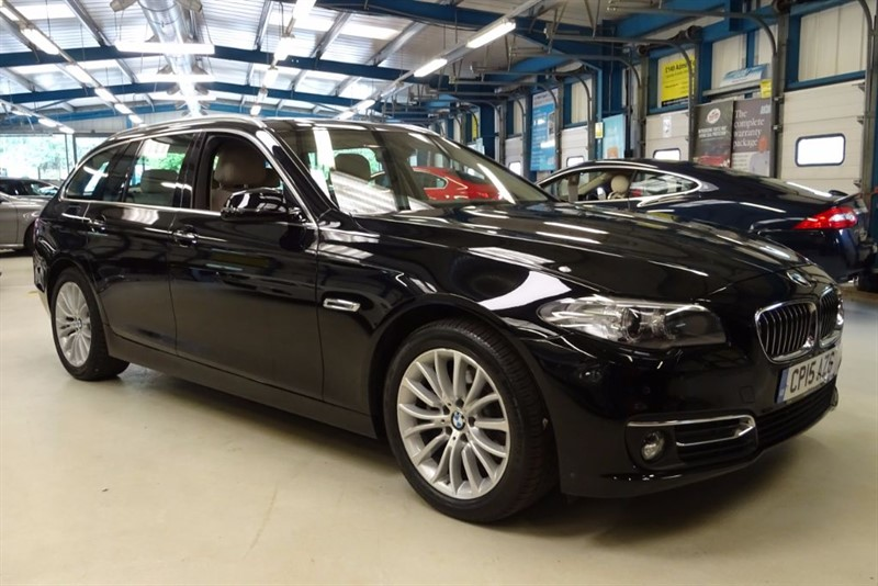 used BMW 520d LUXURY [PRO NAV / LEATHER / 1 OWNER] in basingstoke-hampshire