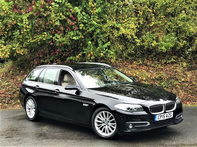 used BMW 520d LUXURY [1 OWNER / SAT NAV / FULL LEATHER] in basingstoke-hampshire