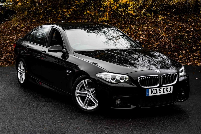 used BMW 520d M SPORT [SAT NAV / LEATHER / 1 OWNER] in basingstoke-hampshire
