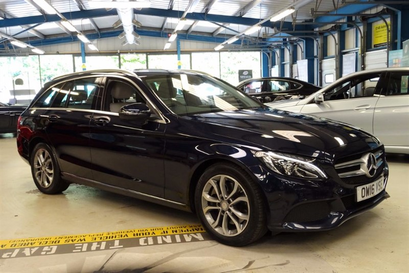 used Mercedes C300 H SPORT [NAV / CREAM LEATHER / 1 OWNER] in basingstoke-hampshire