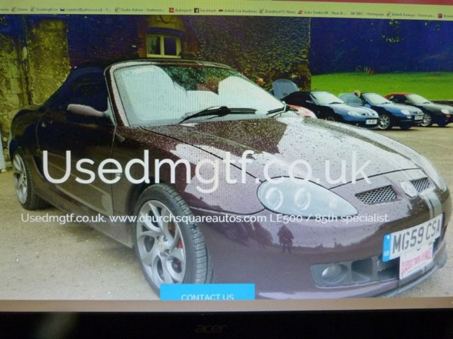 used MG MGF /TF & LE500's. Our Sister website