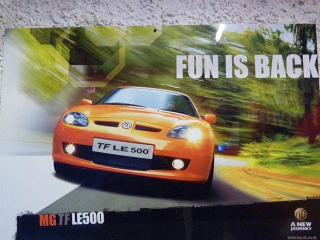 used MG MGF /TF & LE500's. Low mileage cars.