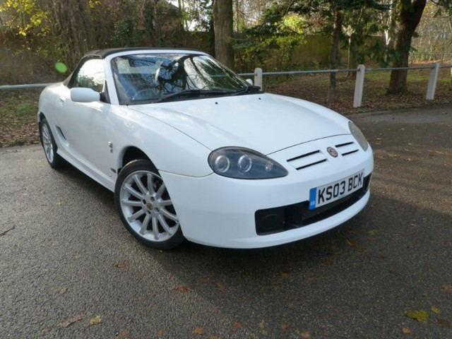 used MG TF 135 White with Black leather